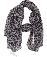 Šedo-černý leopardí šátek Pieces Jozo