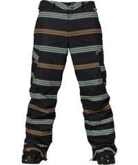 Snowboard kalhoty Burton Cargo 10/11 true blk bandwth strp