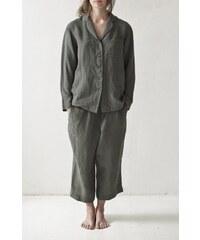 RIIJA dámské lněné pyžamo/antracit