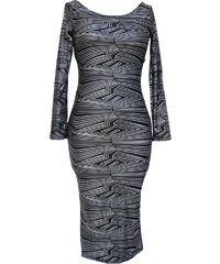 001 Černé letní vintage midi šaty