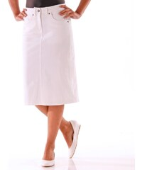 Blancheporte Džínová sukně s rozparkem bílá b5bdcf463e