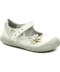 Dětská obuv Cortina.be Flower Girl 221430 bílé dívčí balerínky