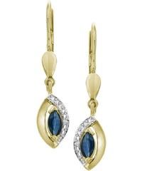"""Vivance Jewels Ohrschmuck: Paar Ohrhänger """"Safir"""" mit Diamanten"""