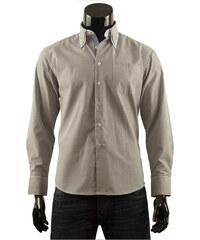 Pánská košile s proužkem Boston Public - tmavě šedá