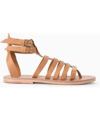 Mango Kožené římské sandály