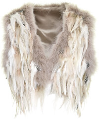 Topshop Pastel Feather Gilet