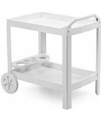 Plastový zahradní servírovací stolek Astro bílý