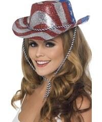 Klobouk Kovboj glitter USA