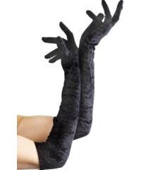 Sametové rukavice černé 53 cm