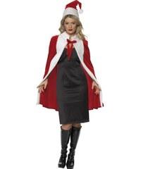 Kostým Miss Santa plášť a čepice
