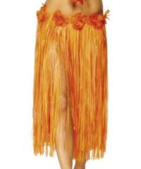 Havajská sukně oranžová 73 cm