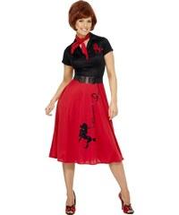 Kostým Pudlík 50. let červený Velikost L 44-46