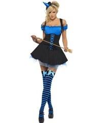 Kostým Sexy čarodějnice modrá Velikost M 40-42