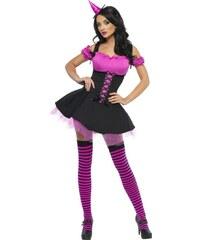 Kostým Sexy čarodějnice růžová Velikost M 40-42