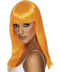 Paruka Glamourama neonově oranžová