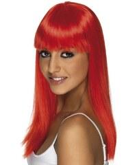 Paruka Glamourama neon jasně červená