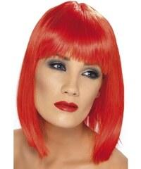Paruka Glam neon červená