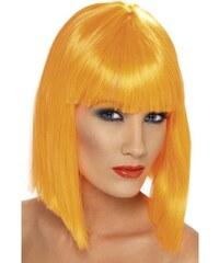 Paruka Glam neon oranžová