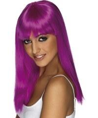 Paruka Glamourama neonově fialová