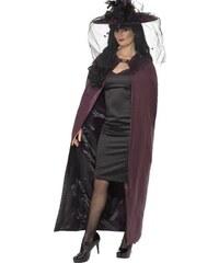 Plášť Čarodějnice černý a purpurový
