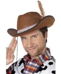 Klobouk Kovboj Dallas hnědá plsť