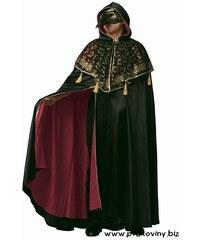 Plášť s kapucí černý