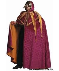 Plášť s kapucí fialový