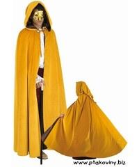 Plášť s kapucí žlutý