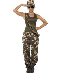 Kostým Vojenská dívka maskáče Velikost L 44-46