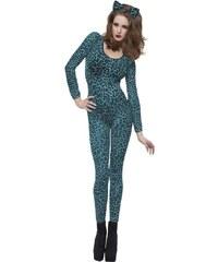 Leopardí body modré