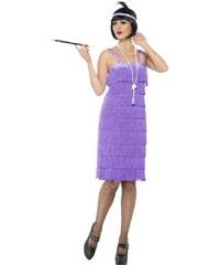 Kostým Jazz Flapper lila Velikost L 44-46