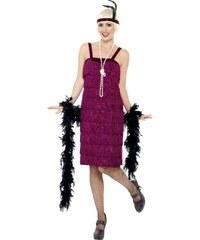 Kostým Jazz Flapper vínová Velikost L 44-46