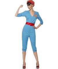 Kostým Retro zaměstnankyně továrny Velikost M 40-42