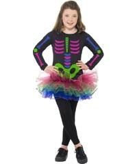 Dětský kostým Kostlivka neonová Pro věk (roků) 10-12