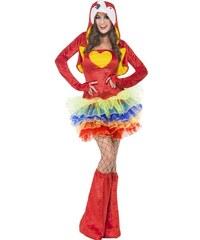 Kostým Sexy papoušek Velikost L 44-46