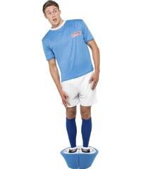 Kostým Figurka fotbalisty modrá Velikost L 52-54