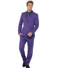 Kostým Fialový oblek Velikost L 52-54