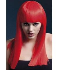 Paruka Alexia neonová červená