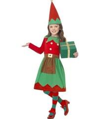 Dětský kostým Malá Santova pomocnice Pro věk (roků) 10-12