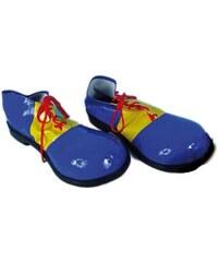 Dětské klaunské boty modro-žluté