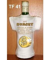 Tričko na flašku Máš dvacet