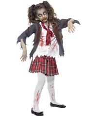 Dětský kostým Zombie školačka Pro věk (roků) 10-12