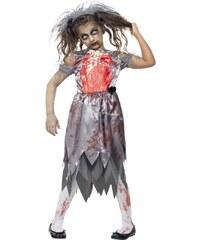 Dětský kostým Zombie nevěsta Pro věk (roků) 10-12