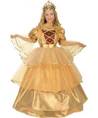 Dětský kostým Zlatá princezna Pro věk (roků) 10-12