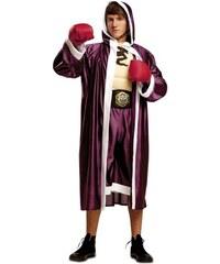 Kostým Boxer vínový Velikost M/L 50-52