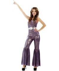 Kostým Disco fialová Velikost M/L 42-44