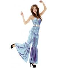 Kostým Disco modrá Velikost M/L 42-44