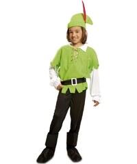 Dětský kostým Robin Hood světlezelený Pro věk (roků) 10-12