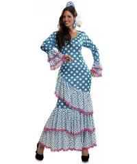 Kostým Tanečnice flamenga modrá Velikost M/L 42-44