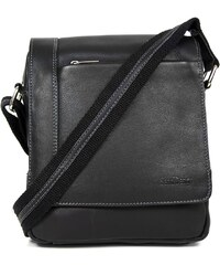 Sendi Design Pánská kožená taška přes rameno SendiDesign IG702 - černá